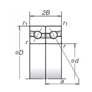 NSK 85BTR10H angular contact ball bearings