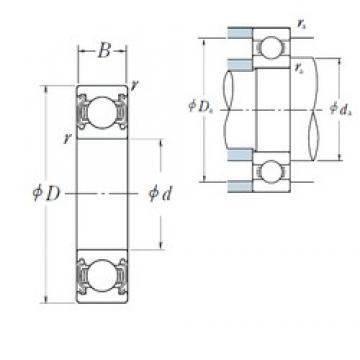 NSK 6826ZZS deep groove ball bearings