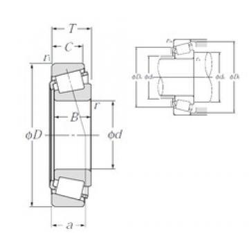 NTN 4T-15118/15245 tapered roller bearings