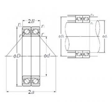 NTN HTA932DB angular contact ball bearings