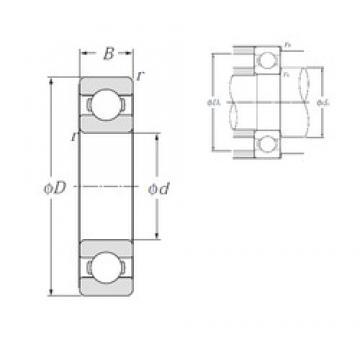 NTN 6836 deep groove ball bearings