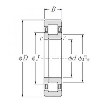 NTN NUP238E cylindrical roller bearings