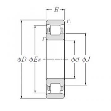 NTN N312 cylindrical roller bearings