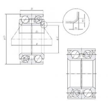NTN DE0565LZCS34PX1/L244 angular contact ball bearings