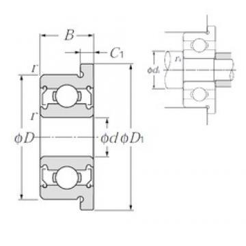 NTN FLWBC5-13ZZ deep groove ball bearings