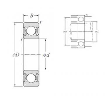 NTN 6304LLU deep groove ball bearings