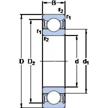 SKF 61914-2RZ deep groove ball bearings