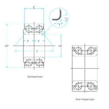 ISO DAC38740050 angular contact ball bearings