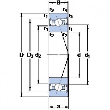 SKF S7009 CB/P4A angular contact ball bearings