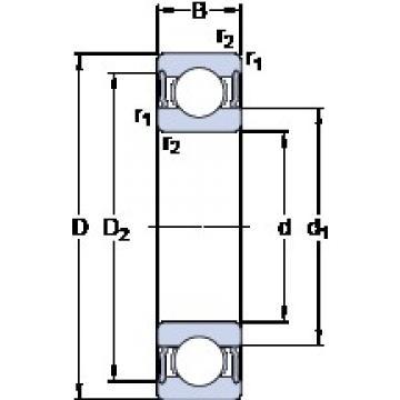 SKF 63006-2RS1 deep groove ball bearings