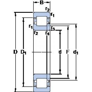 SKF NUP 2222 ECML thrust ball bearings
