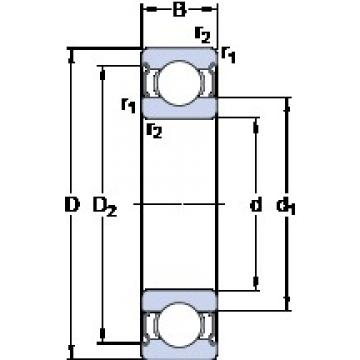 SKF W 61703-2Z deep groove ball bearings