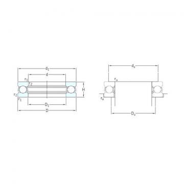 SKF 51209 thrust ball bearings