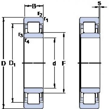 SKF NU 334 M thrust ball bearings
