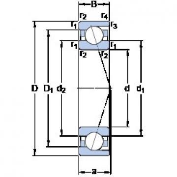 SKF 71810 CD/P4 angular contact ball bearings