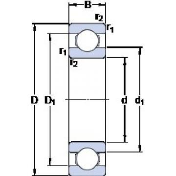 SKF 618/750 MA deep groove ball bearings
