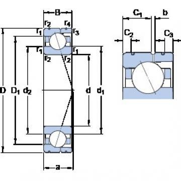 SKF 7015 CD/P4AL angular contact ball bearings