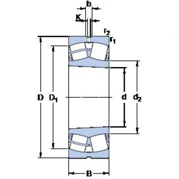 SKF 23032 CCK/W33 spherical roller bearings