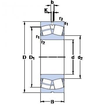 SKF 24160 CC/W33 spherical roller bearings