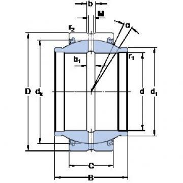 SKF GEZM 300 ES-2LS plain bearings