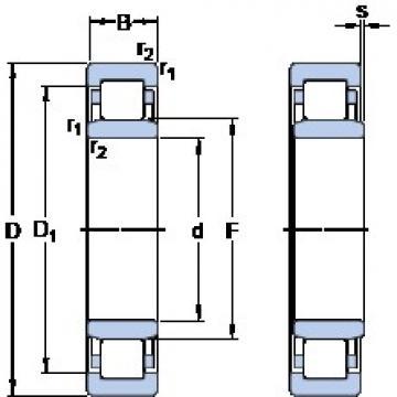 SKF NU 1292 MA thrust ball bearings