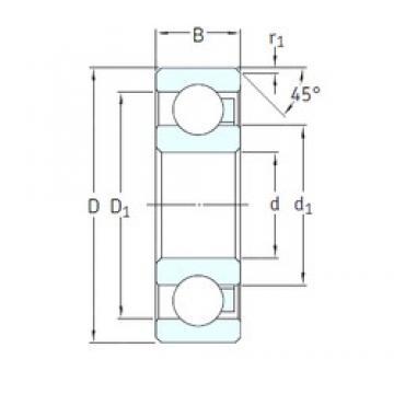 SKF 6208/HR22T2 deep groove ball bearings