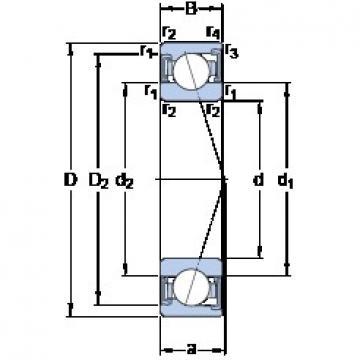 SKF S71908 ACD/P4A angular contact ball bearings