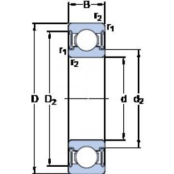 SKF W 61900-2RZ deep groove ball bearings