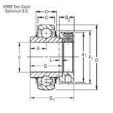Timken 1203KRRB deep groove ball bearings