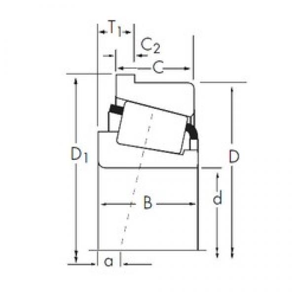 Timken 45285A/45220-B tapered roller bearings #1 image