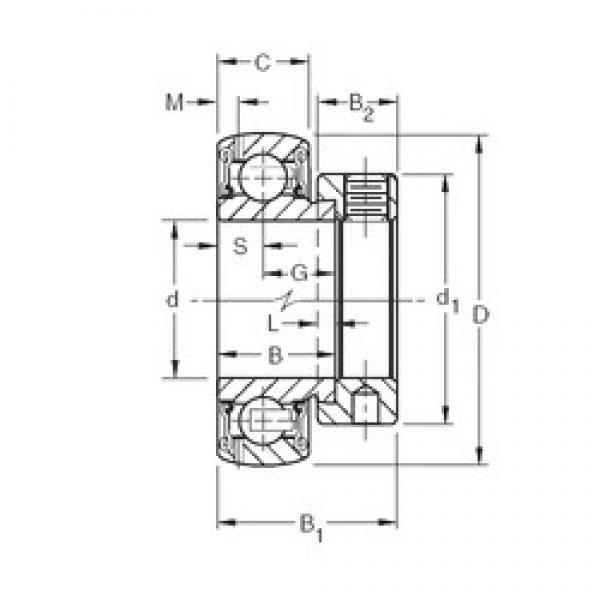 Timken GRA109RRB deep groove ball bearings #1 image