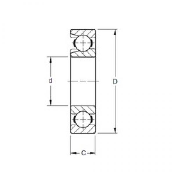 Timken 206W deep groove ball bearings #1 image