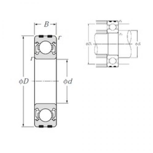 NTN EC-6205ZZ deep groove ball bearings #1 image