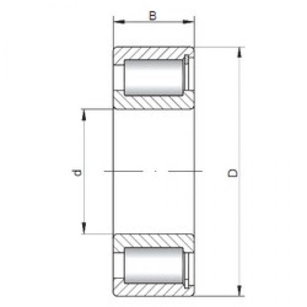 ISO NCF2232 V cylindrical roller bearings #1 image