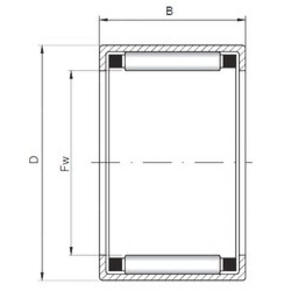 ISO HK142218 cylindrical roller bearings #1 image