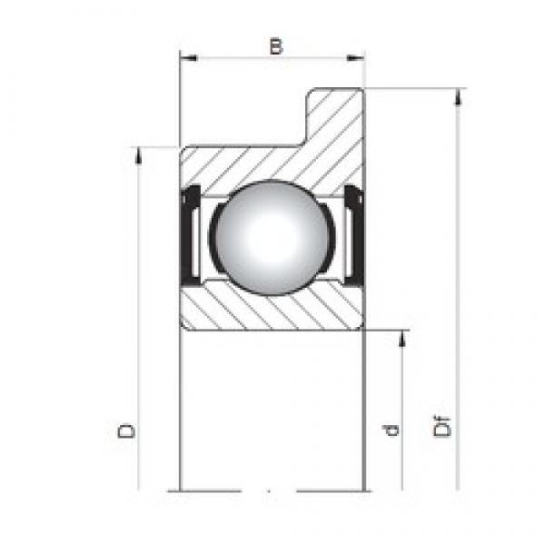 ISO FL603 ZZ deep groove ball bearings #1 image
