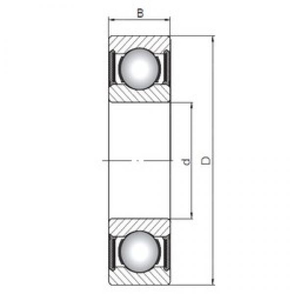 ISO 6313-2RS deep groove ball bearings #1 image