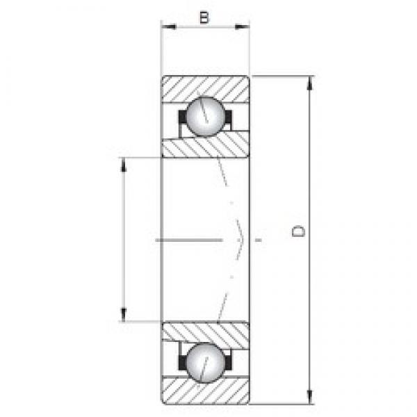 ISO 71809 C angular contact ball bearings #1 image