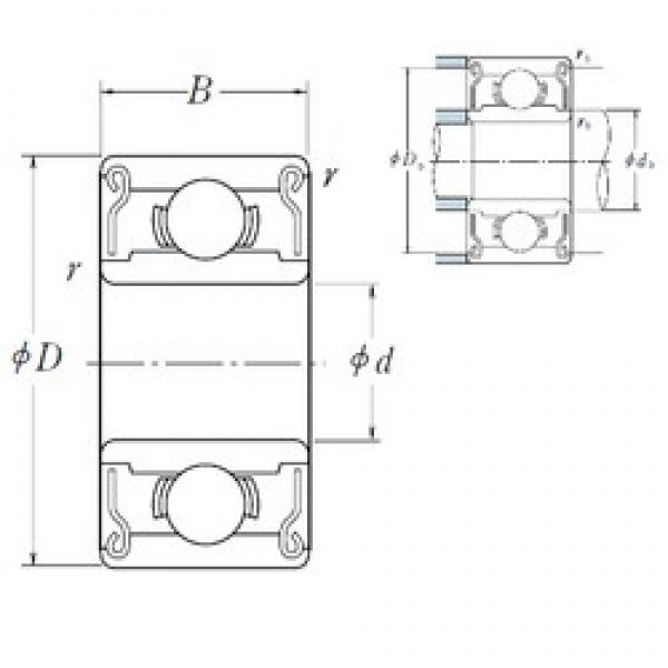NSK MR 74 ZZ deep groove ball bearings #1 image