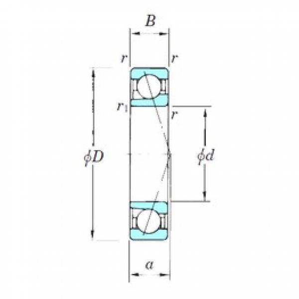 KOYO 7238CPA angular contact ball bearings #1 image