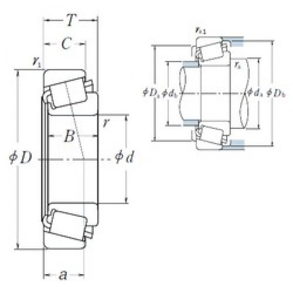 NSK 6279/6220 tapered roller bearings #1 image
