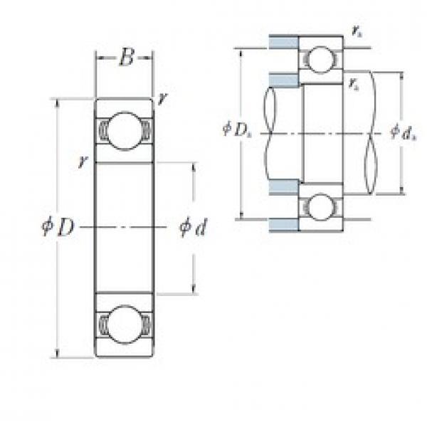 NSK 6314 deep groove ball bearings #1 image
