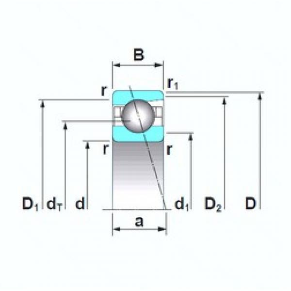 NSK 7222A5TRSU angular contact ball bearings #1 image