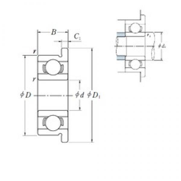 NSK MF128 deep groove ball bearings #1 image