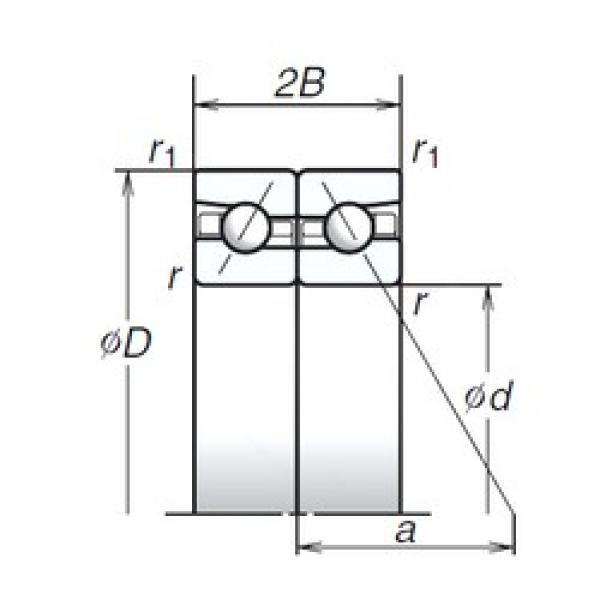 NSK 120BTR10S angular contact ball bearings #1 image