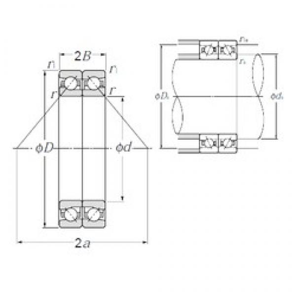NTN HTA932DB angular contact ball bearings #1 image