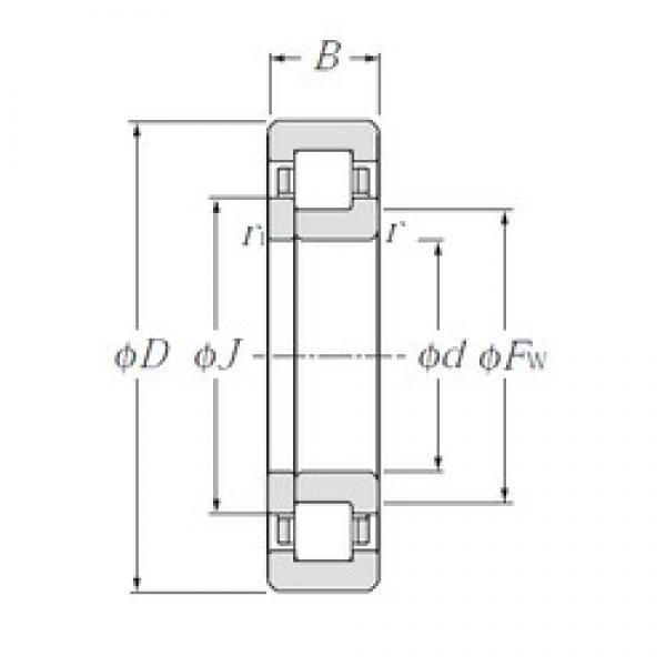NTN NUP238E cylindrical roller bearings #1 image