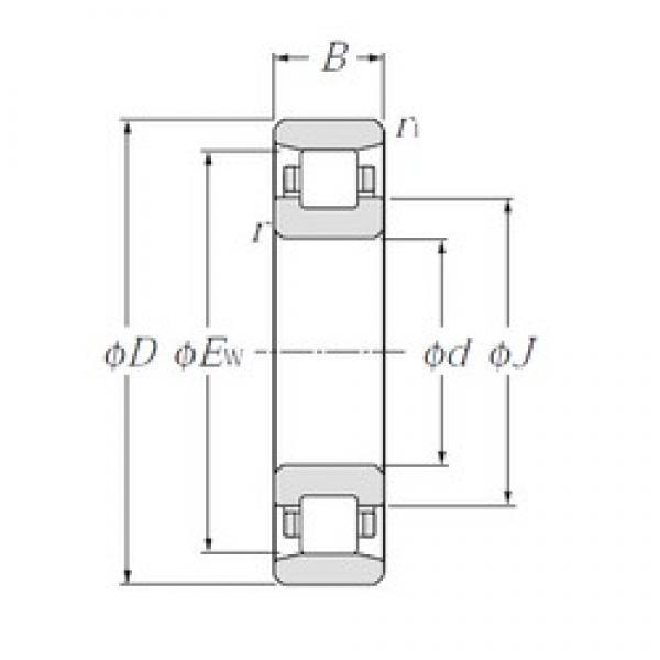 NTN N2217 cylindrical roller bearings #1 image