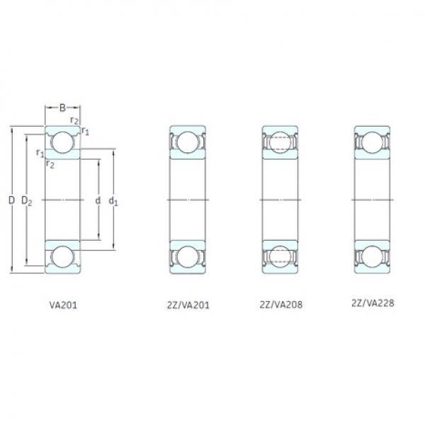 SKF 6304/VA201 deep groove ball bearings #1 image