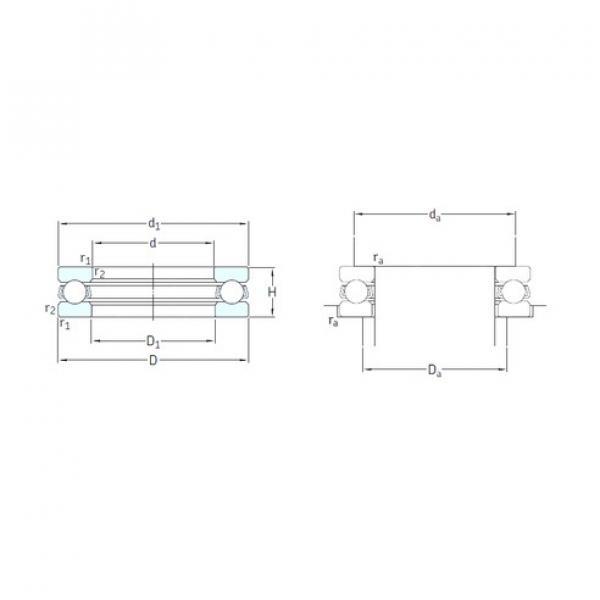 SKF 51209 thrust ball bearings #1 image